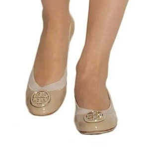 Tory Burch Caroline patent-leather ballet flats